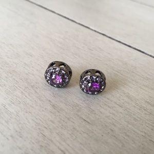 Betsey Johnson Purple Stud Earrings